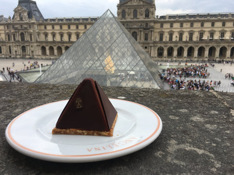 Having Lunch at the Louvre, pyramid style