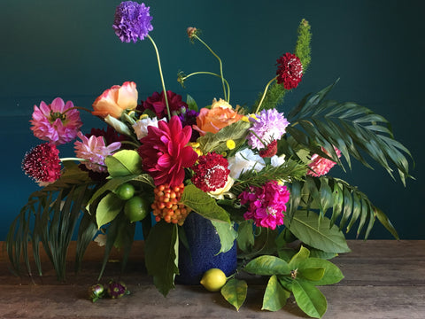 Floral Design with whimsy and ferns by Gorgeous and Green