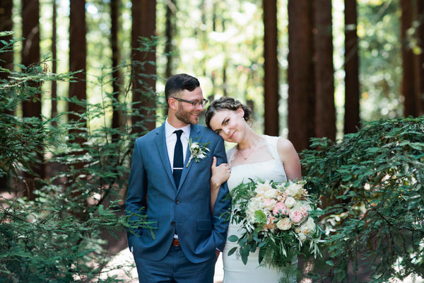 Emily and Bryan Nature Friends wedding in Oakland featuring Gorgeous and Green florals