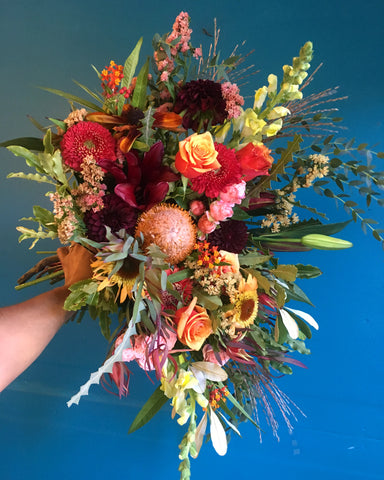 a large local grown bouquet example from Gorgeous and Green