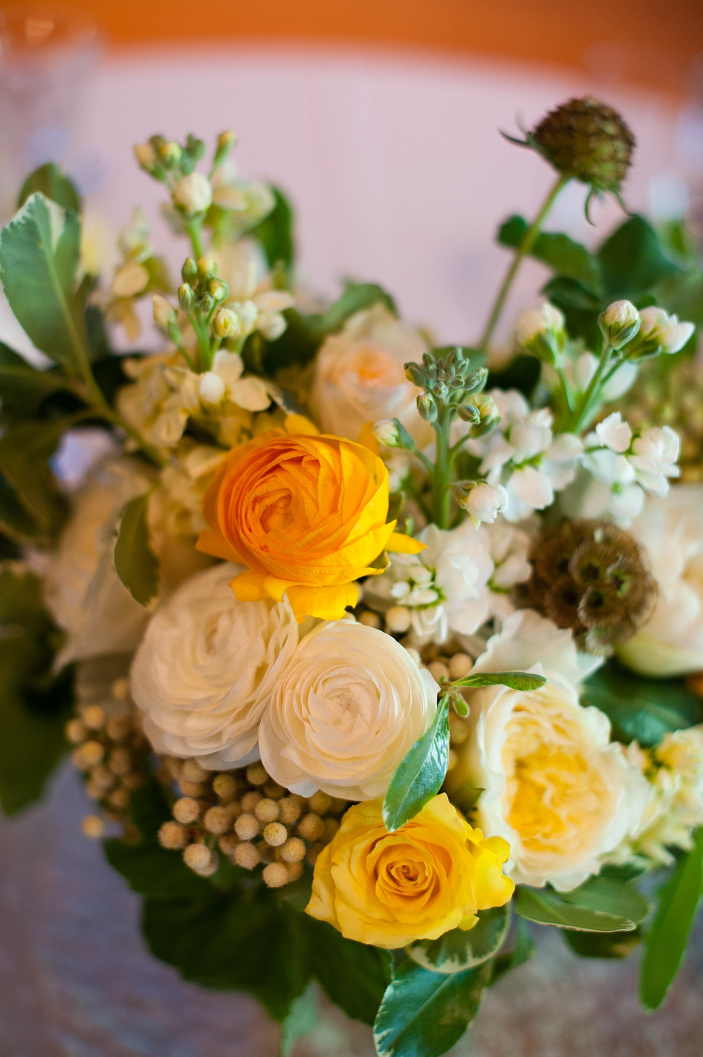 More Of A Spring Wedding In Cream Yellow And Plum