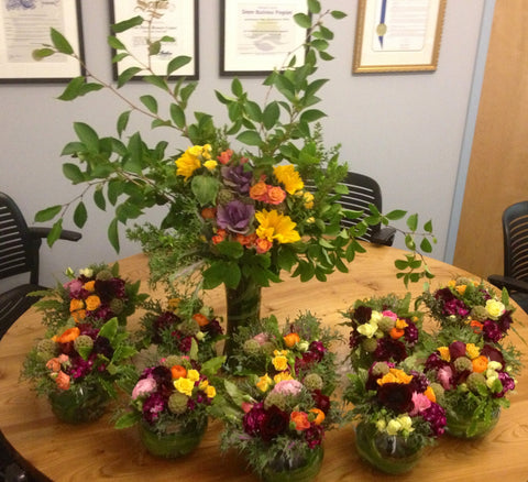 Multicolor Arrangements for an event at David Brower Center by Gorgeous and Green