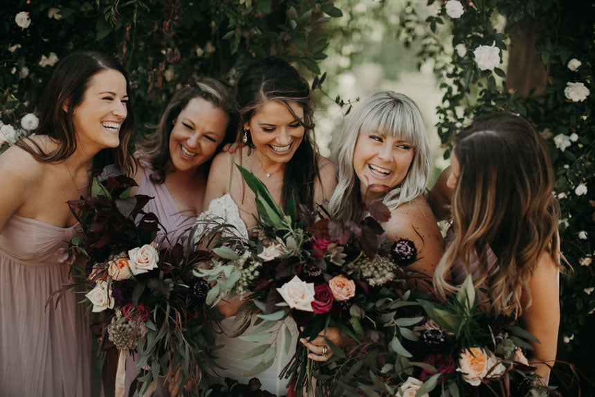 The Bridesmaids looking adorable in the Berkeley Rose Garden. Photo by From the Daisies.