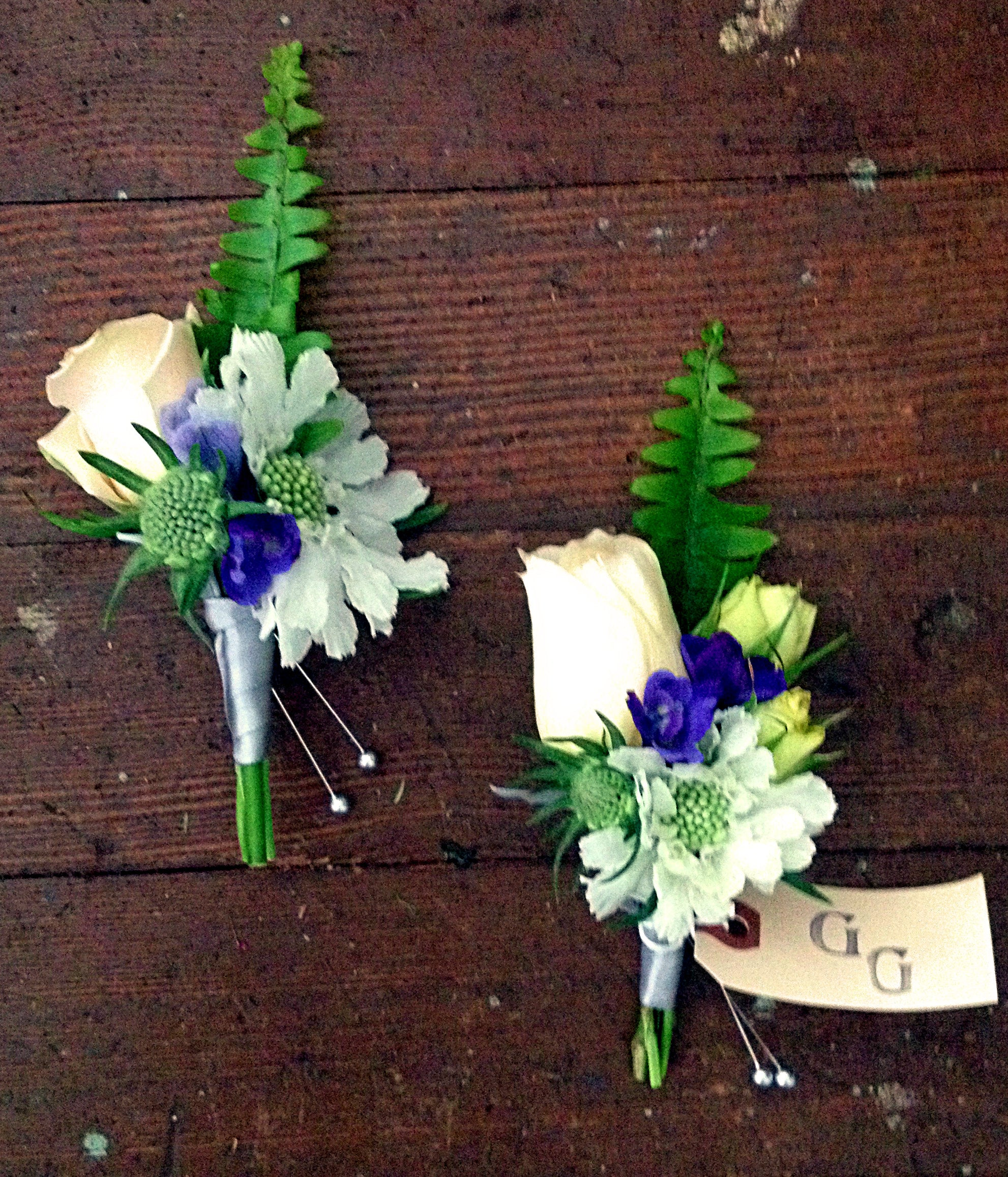 Blush Pink And Blue Wedding Flowers