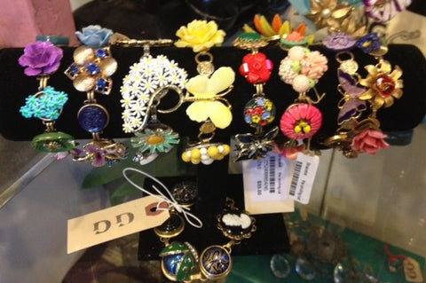 Vintage bracelets and other jewelry by Smiling Cat, Berkeley