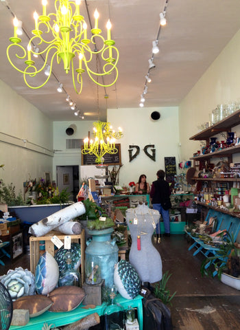 Inside the Gorgeous and Green boutique, Berkeley Elmwood