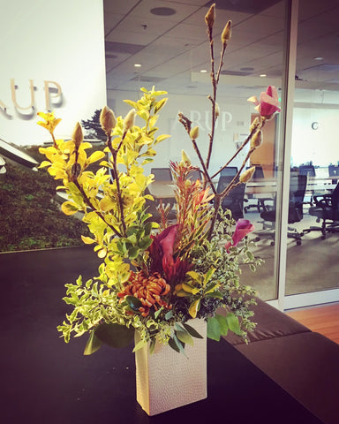 Arup office flower arrangement, San Francisco
