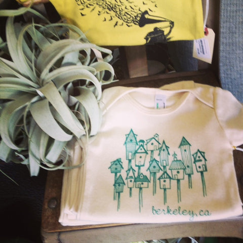 local designed onesies by Sweetpea and Pie sold at Gorgeous and Green