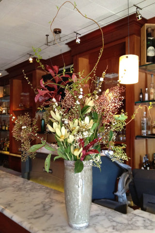 branchy organic arrangement for Berkeley Restaurant by Gorgeous and Green