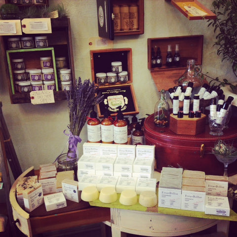 Etta and Billie Body products, local made and organic sold by Gorgeous and Green
