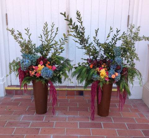 Two large and branchy arrangements for the altar at St Vincent's School for Boys by Gorgeous and Green