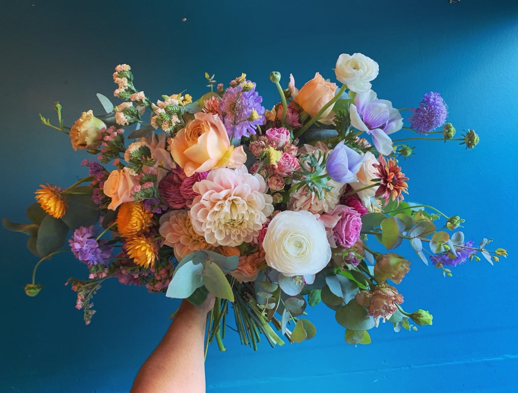 Natural & Rounded Bridal Bouquet, small event order ($400 minimum)