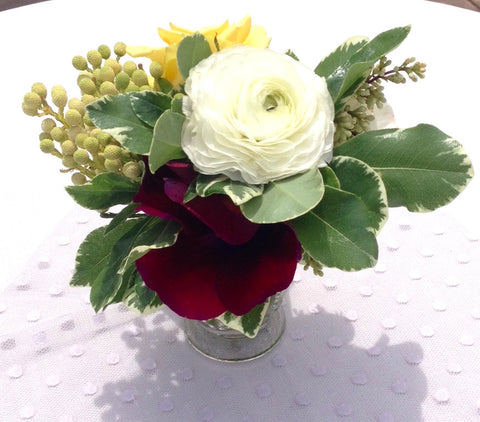 Event: Trio of bud vases, small event order ($400 minimum)