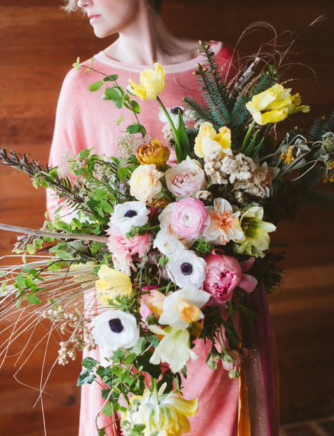 The flowing Bridal Bouquet