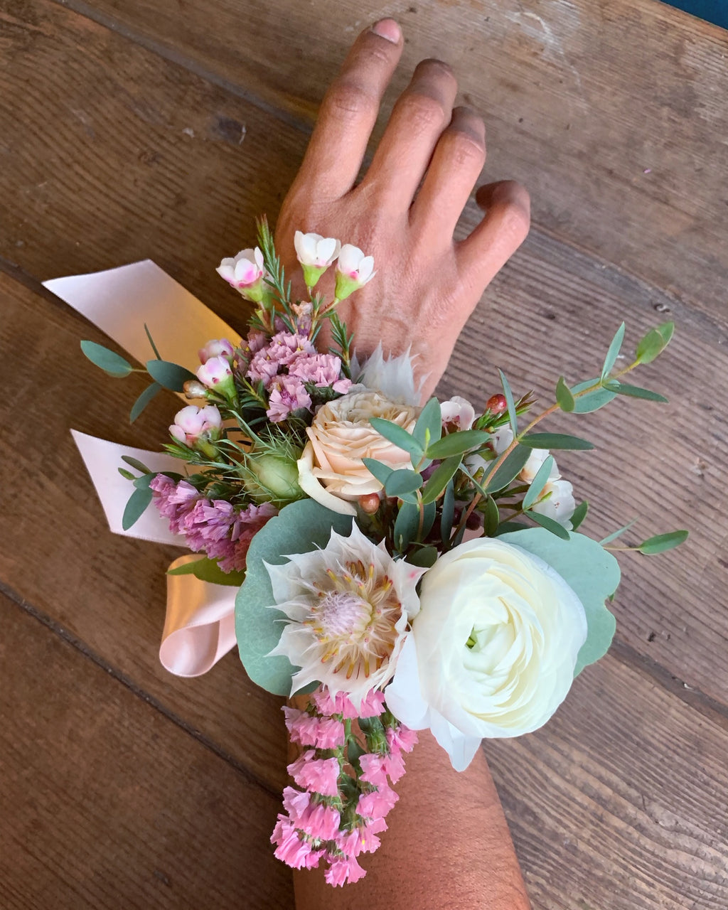 Corsage for the Wrist, small event order ($400 minimum)