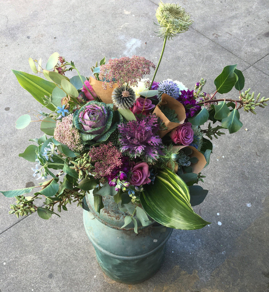 A Few Succulents & Blooms,  available next Day or later M-F