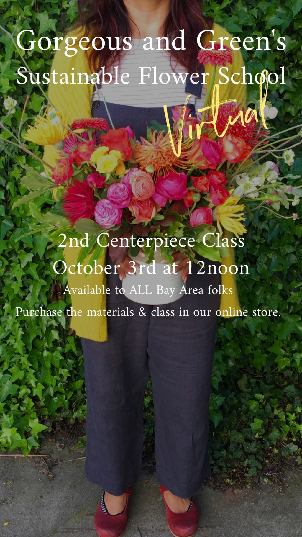 Sustainable Centerpiece Workshop (Virtual), October 3rd