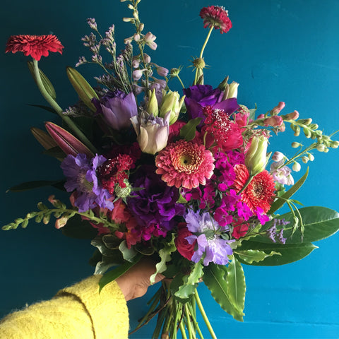 A Local Grown Hand Tied Bouquet, available TUESDAY May 28th or Later