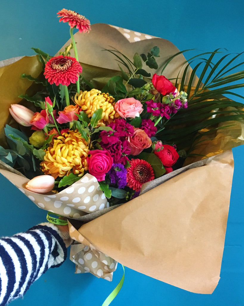 A Local Grown Hand Tied Bouquet, available Next Day or Later, Mon-Fri
