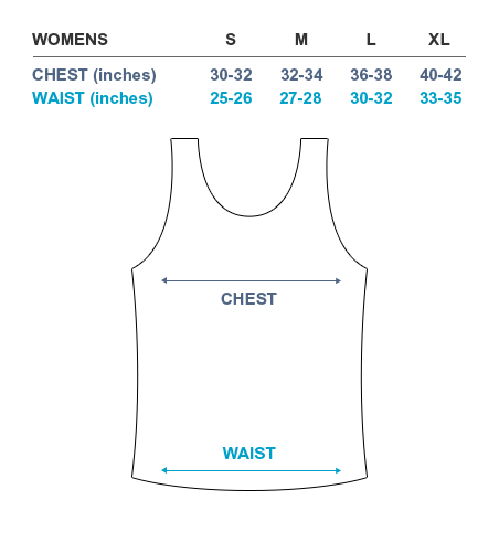 Solehab Tank Top Sizing Chart Women