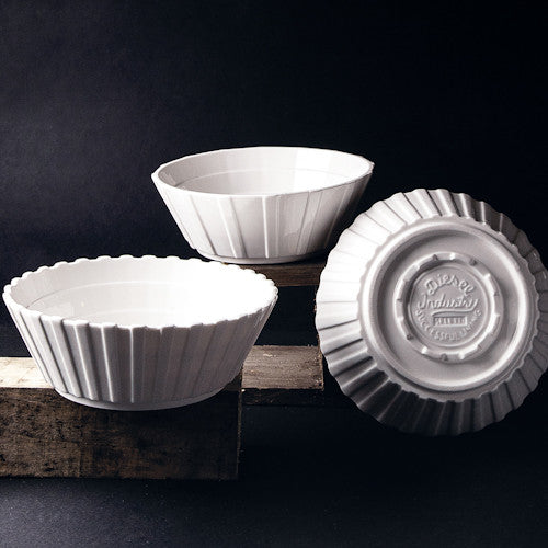 Seletti Set of 3 assorted porcelain salad bowls