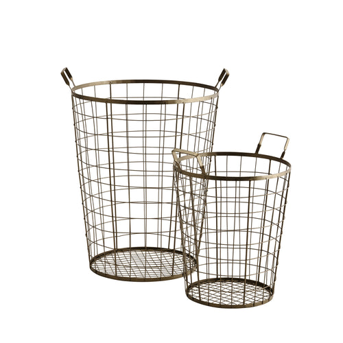 WIre Basket Large - Brass