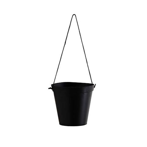 Hanging Pot w/Jute Handle - Black