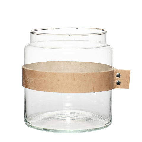 Hubsch Vase Leather Ribbon