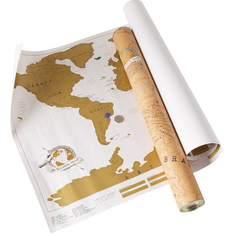 Travel Scratch Map - Large
