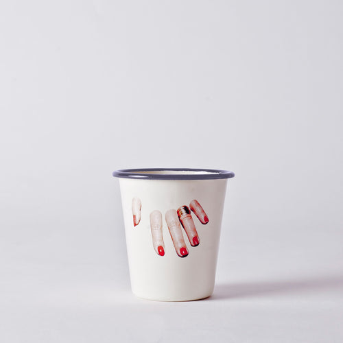 Seletti Enamel Glass - Finger Hand