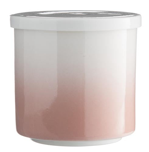 T-Light/Jar - White/Rose