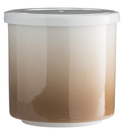 T-Light/Jar - White/Beige