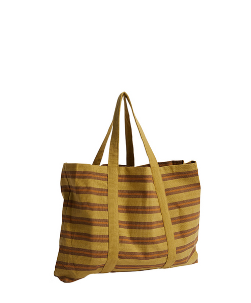 Pony Rider Safari Stripe Sack Bag - Golden Tan