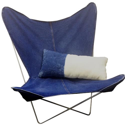 Vintage Wash Denim Buttery Chair Cover