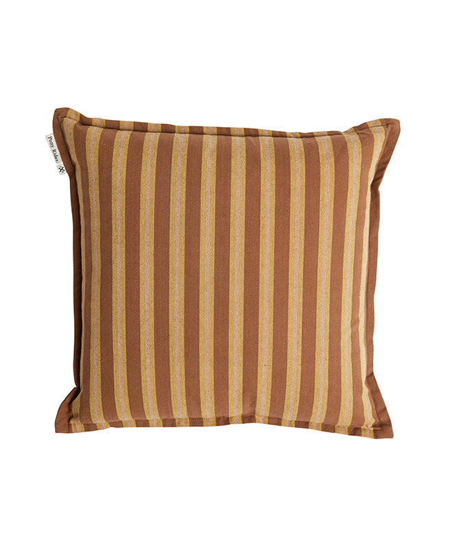 Pony Rider Safari Stripe Cushion Cover/ Rusty Desert 55*55