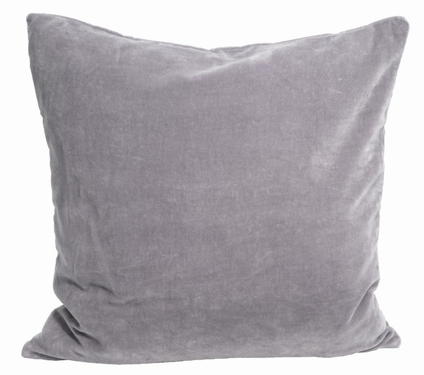 Madam Stoltz Large Velvet Cushion - Lilac