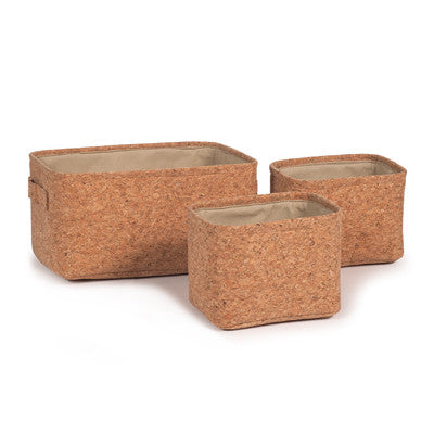 Floral Interiors Rectangle Cork Basket