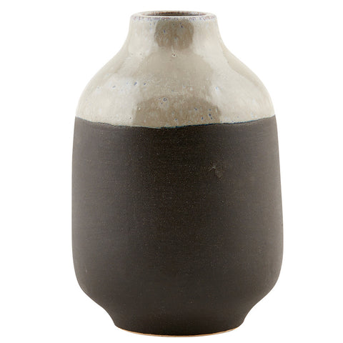 HOUSE DOCTOR EARTH VASE, GREY & BLACK