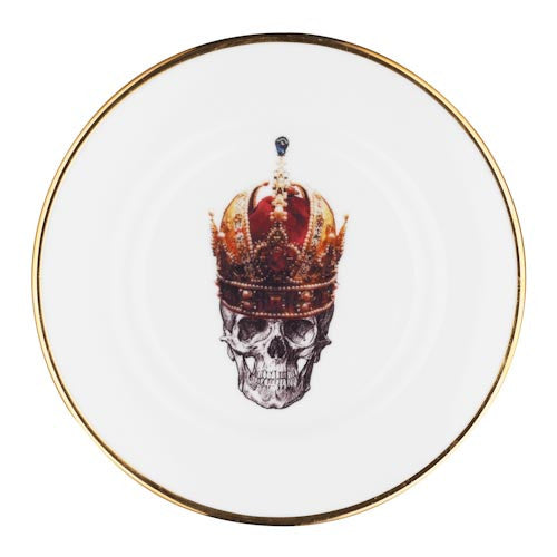 Bone China - Skull in Red Crown