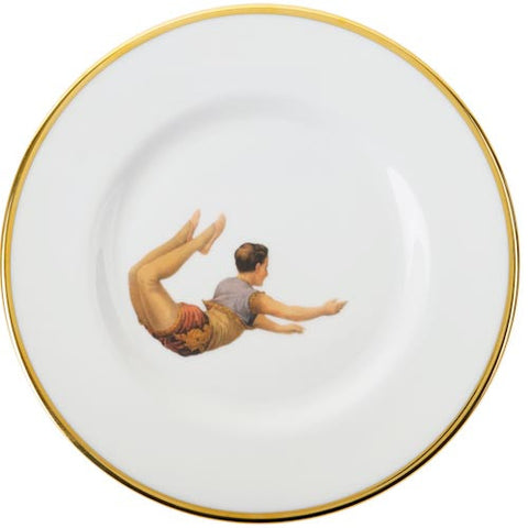 Bone China Trapeze Boy Plate