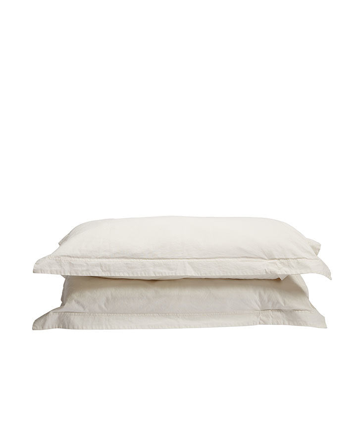 Pony Rider Natural Organic Canvas King Pillowcase set
