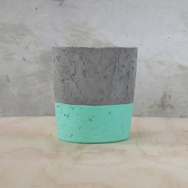 White Moose Concrete Planter - Sea Green 20CM