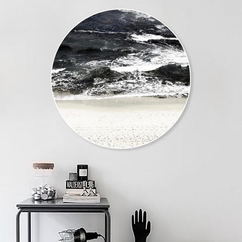 Round Gloss Print - Black Sea