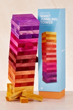 SunnyLife Giant Jumbling Tower - Sunrise