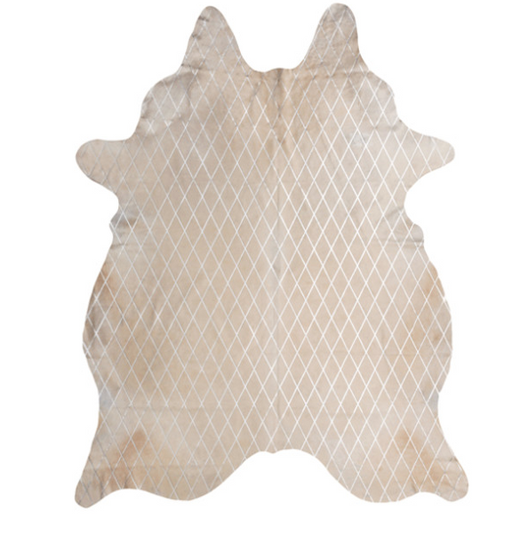 Art Hide Arlequin Hide Cream/Silver - 3x2m
