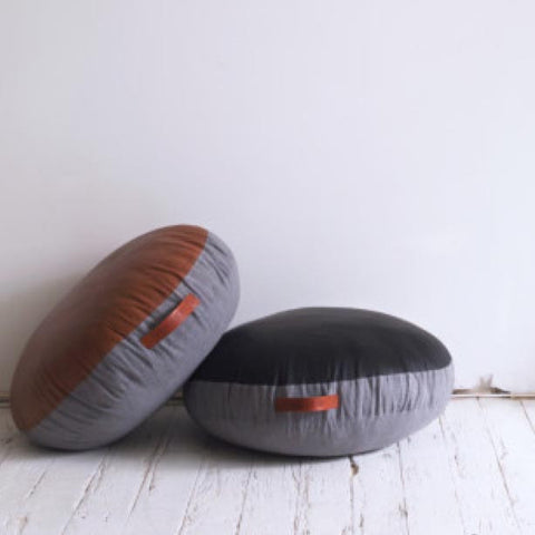 Amigos De Hoy Floor Cushion Round - Black