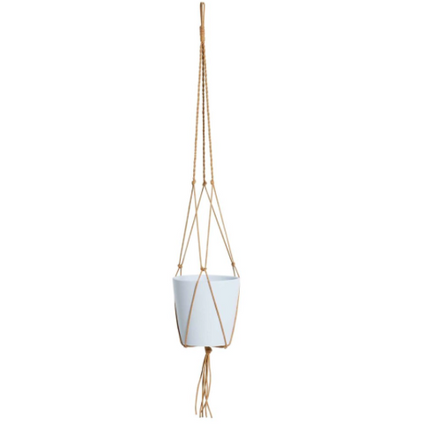 Milk & Sugar Ziggy Pot Hanger - Tan 100cm