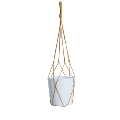 Milk & Sugar Ziggy Pot Hanger - Tan 65cm