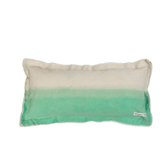 Marmoset Found Cushion Natural/Seafoam