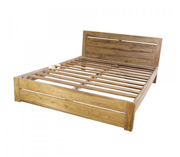 Loft Collection King Wooden Bed Frame - Natural